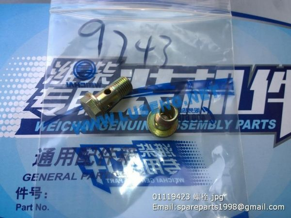 ,01119423 bolt weichai deutz spare parts