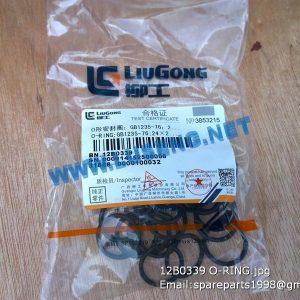 LIUGONG SPARE PARTS,12B0339,O-RING,12B0339 O-RING LIUGONG SPARE PARTS O/24X2.4