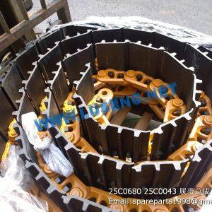 ,25C0680 25C0043 track shoe assembly liugong clg922d clg925d excavator