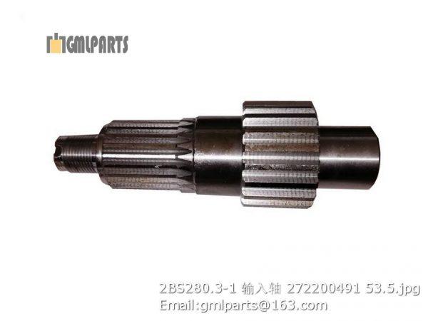 ,2BS280.3-1 input shaft 272200491 xcmg lw180k