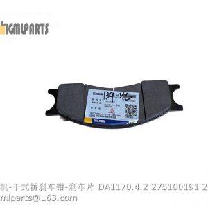 ,275100191 brake pad DA1170.4.2