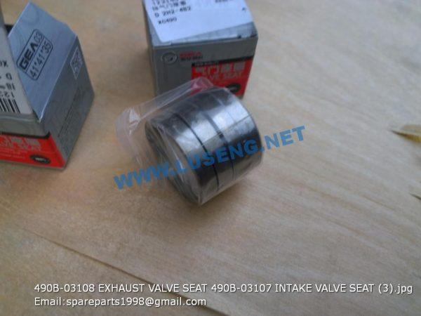 ,490B-03108 EXHAUST VALVE SEAT 490B-03107 INTAKE VALVE SEAT