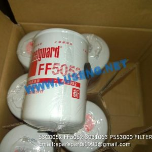 LIUGONG SPARE PARTS,53C0052,FILTER,53C0052 FILTER LIUGONG SPARE PARTS FF5052