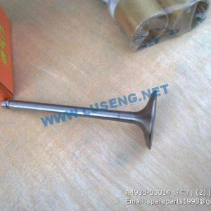 ,A498B-03014 VALVE INTAKE XINCHAI 498 PARTS