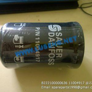 ,B222100000636 11004917 filter SANY ROAD ROLLER