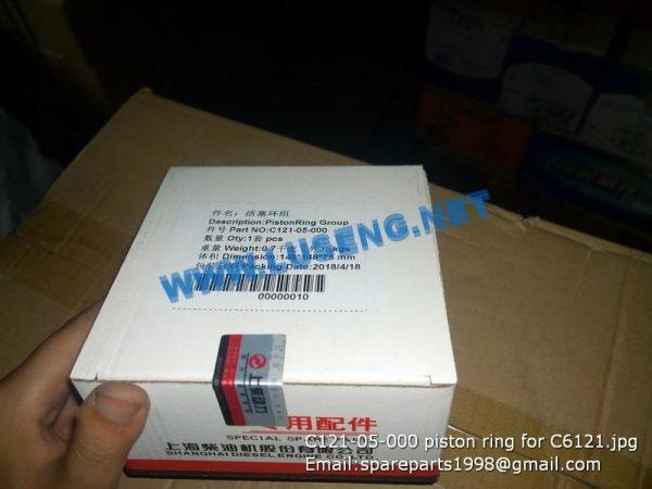 ,C121-05-000 piston ring for C6121 shanghai parts
