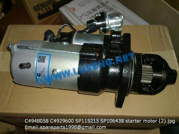 LIUGONG SPARE PARTS,SP106438,START MOTOR,4948058 4929600 SP115215 SP106438 starter motor