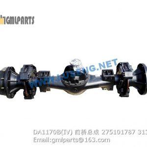 ,275101787 DA1170B(IV) FRONT AXLE