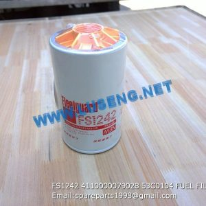 LIUGONG SPARE PARTS,53C0104,FILTER,53C0104 FILTER LIUGONG SPARE PARTS FS1242 4110000079028