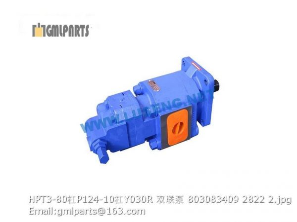 ,803083409 HPT3-80/P124-10/Y030R gear pump xcmg lw600fn