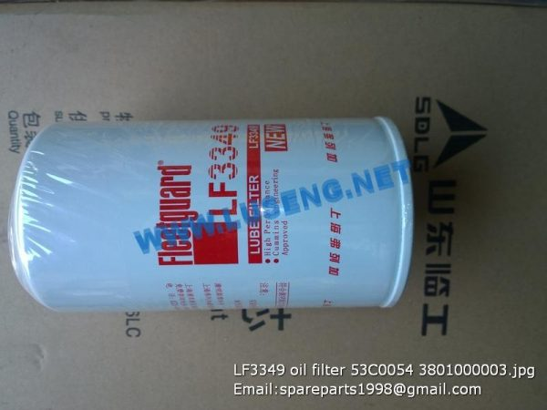 ,LF3349 oil filter 53C0054 3801000003