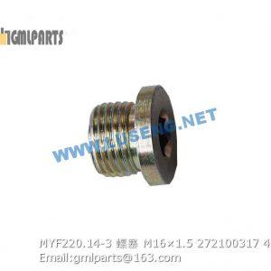 ,272100317 MYF220.14-3 PLUG M16×1.5