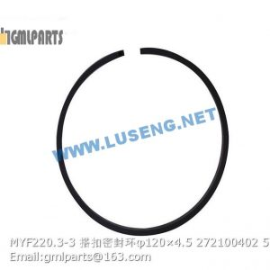 ,272100402 MYF220.3-3 Piston ring φ120×4.5