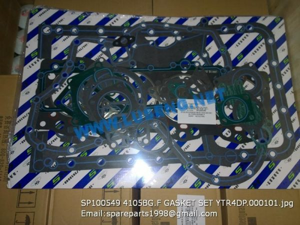 LIUGONG SPARE PARTS,SP100549,OVERHUAL GASKET SET,SP100549 OVERHUAL GASKET SET LIUGONG SPARE PARTS 4105BG.F YTR4DP.000101
