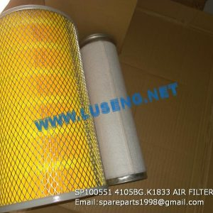 LIUGONG SPARE PARTS,SP100551,AIR FILTER,SP100551 AIR FILTER LIUGONG SPARE PARTS 4105BG.K1833