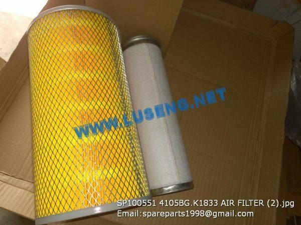 LIUGONG SPARE PARTS,SP100551,AIR FILTER,SP100551 AIR FILTER LIUGONG SPARE PARTS 4105BG.K1833