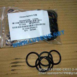LIUGONG SPARE PARTS,SP104115,O RING,SP104115 O RING LIUGONG SPARE PARTS 07000-03032