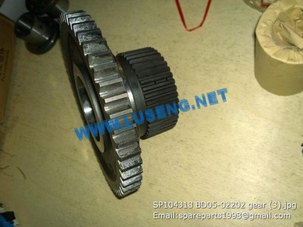 LIUGONG SPARE PARTS,SP104318,GEAR,SP104318 GEAR LIUGONG SPARE PARTS BD05-02202