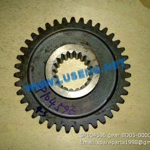 LIUGONG SPARE PARTS,SP104596,GEAR,SP104596 GEAR LIUGONG SPARE PARTS ZL15 BD05-00002