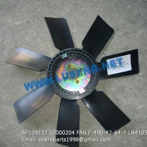 LIUGONG SPARE PARTS,SP109132,FAN,SP109132 FAN LIUGONG SPARE PARTS 52000204 F-490-42-64-7 LR4105