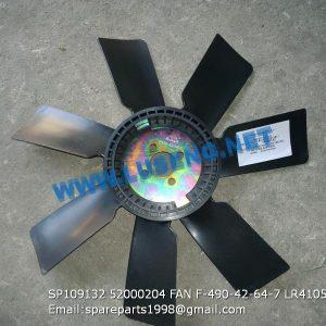 LIUGONG SPARE PARTS,SP109132,FAN,SP109132 FAN LIUGONG SPARE PARTS 52000204 F-490-42-64-7 LR4105