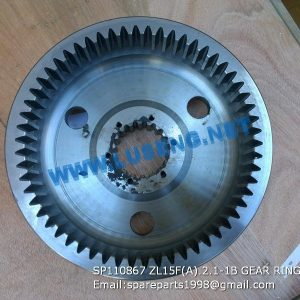 LIUGONG SPARE PARTS,SP110867,GEAR RING,SP110867 GEAR RING LIUGONG SPARE PARTS ZL15F(A).2.1-1B