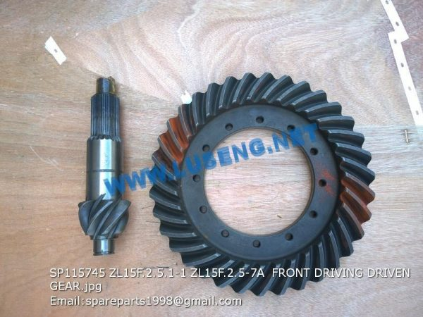 LIUGONG SPARE PARTS,SP115745,FRONT DRIVING/DRIVEN GEAR,SP115745 FRONT DRIVING/DRIVEN GEAR LIUGONG SPARE PARTS ZL15F.2.5.1-1/ZL15F.2.5-7A