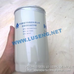 ,VG1246070031 UJ-1039C OE147 OIL FILTER