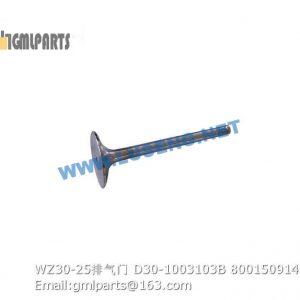 ,800150914 WZ30-25 VALVE EXHAUST D30-1003103B