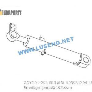 ,803081204 XGYG01-204 XCMG DUMP CYLINDER