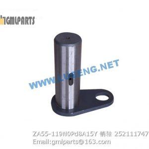 ,252111747 ZA55-119N0Pd8A15Y PIN XCMG