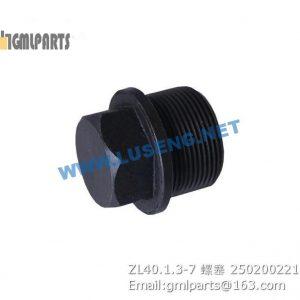 ,250200221 ZL40.1.3-7 PLUG XCMG